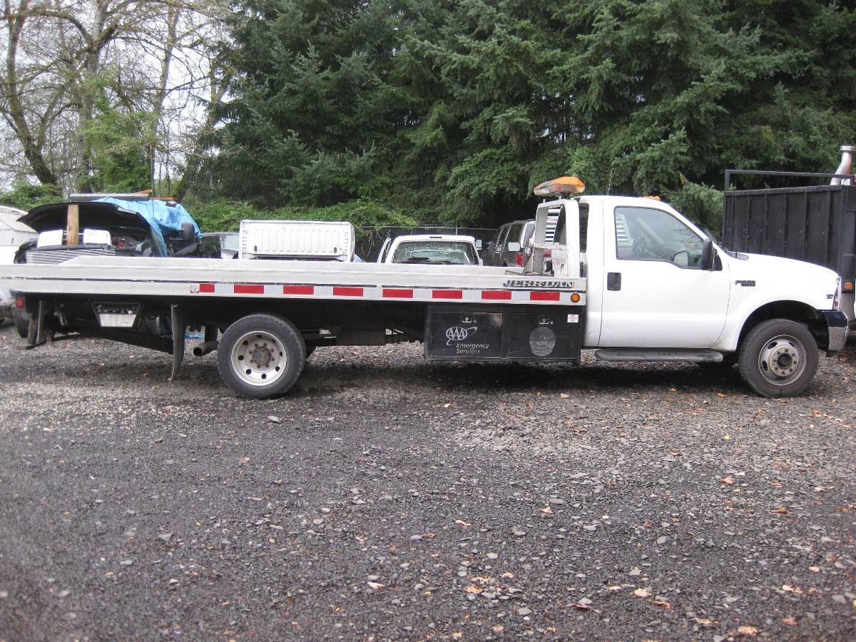 1999 FORD F550 ROLL-BACK TOW TRUCK